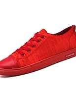 cheap -Men's Shoes Net / Tulle Summer Comfort / Light Soles Sneakers Black / Red