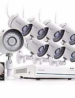 Недорогие -funlux® 8ch 1080p hdmi nvr упрощенная модель 8x 720p hd наружная / внутренняя система безопасности камеры 1 тб жесткий диск