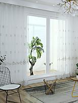 baratos -Sheer Curtains Shades Quarto Boêmio Tricotado Bordado