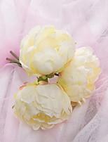 abordables -Fleurs artificielles 1 Une succursale Rustique Pivoines Fleur de Table