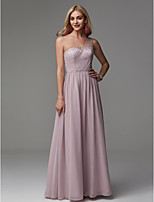 cheap -A-Line One Shoulder Floor Length Chiffon Prom / Formal Evening Dress with Beading by TS Couture®