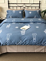 cheap -Duvet Cover Sets Geometric 100% Cotton Printed 4 Piece