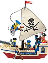 cheap -Building Blocks 188pcs Pirates of the Caribbean Pirate Ship Parent-Child Interaction / Exquisite Gift