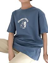 economico -T-shirt Per donna Essenziale Con stampe, Fantasia geometrica / Alfabetico