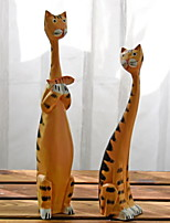 cheap -2pcs Wood European Style Modern / ContemporaryforHome Decoration, Home Decorations Gifts
