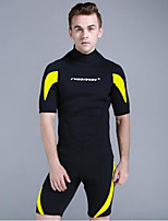 cheap -Men's Shorty Wetsuit 3mm CR Neoprene Diving Suit Anatomic Design Half Sleeve Graphic Summer