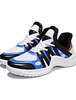 economico -Per uomo Scarpe Tulle / PU (Poliuretano) Autunno Comoda Sneakers Corsa / Ciclismo / Footing Nero / Bianco / nero / White / Blue