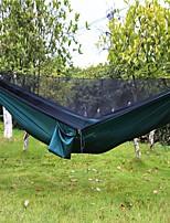 abordables -Hamac de Camping avec Filet à Moustique Extérieur Léger, Respirabilité Nylon pour Randonnée / Camping / Voyage - 2 personne Noir / Vert