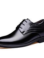 Недорогие -Муж. обувь Искусственное волокно Весна Удобная обувь Туфли на шнуровке Черный / Коричневый / Официальная обувь