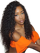 cheap -Remy Human Hair Wig Brazilian Hair / Kinky Curly Curly 150% Density 100% Virgin Long Women's Human Hair Lace Wig