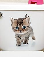 baratos -Autocolantes de Frigorífico Autocolantes de Banheiro - Etiquetas de parede de animal Animais 3D Sala de Estar Quarto Banheiro Cozinha