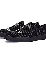 cheap -Men's Shoes PU Fall Comfort Loafers & Slip-Ons Black / Gold Black / Silver