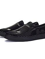 Недорогие -Муж. обувь Полиуретан Осень Удобная обувь Мокасины и Свитер Черный и золотой Черный