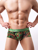cheap -Men's Boxers Underwear Camouflage Low Rise