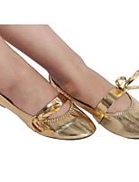 abordables -Femme Chaussures de Ballet Polyuréthane Plate Utilisation / Entraînement Talon Plat Chaussures de danse Or