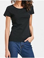 cheap -Women's Basic / Street chic T-shirt - Solid Colored Cut Out