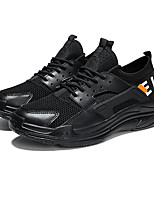 cheap -Men's Shoes Tulle / PU(Polyurethane) Fall Comfort Sneakers Running Shoes / Walking Shoes White / Black