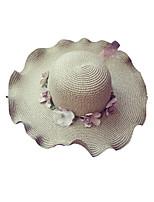 Недорогие -Жен. Классический / Праздник Соломенная шляпа / Шляпа от солнца Цветочный принт