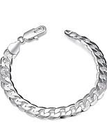 preiswerte -Herrn Damen 1 Ketten- & Glieder-Armbänder - Einfach Cool Kreisform Geometrische Form Silber Armbänder Für Alltag Arbeit