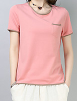 cheap -Women's Basic T-shirt - Solid Colored