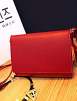 cheap -Women's Bags PU(Polyurethane) Shoulder Bag Buttons Black / Red / Gray
