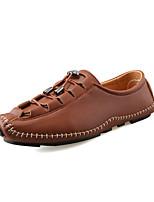 Недорогие -Муж. обувь Дерматин Весна Лето Обувь для дайвинга Удобная обувь Мокасины и Свитер для Повседневные на открытом воздухе Черный Серебряный