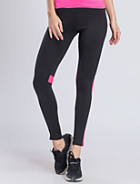 abordables -BARBOK Femme Maille / Mosaïque Pantalon de yoga - noir / vert, Noir / rose Des sports Maille Collants Tenues de Sport Léger, Yoga,