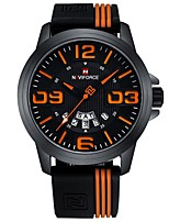 cheap -Men's Sport Watch Japanese Chronograph / Water Resistant / Water Proof Silicone Band Casual / Fashion White / Red / Orange