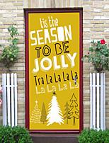 Недорогие -Декоративные наклейки на стены Дверные наклейки - Простые наклейки Праздник стены стикеры Рождество Цветочные мотивы / ботанический