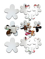 baratos -Autocolantes de Parede Decorativos - Autocolantes de Parede Espelho Floral / Botânico Sala de Estar / Quarto