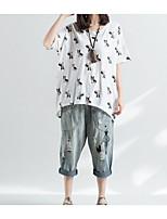cheap -Women's Basic / Street chic T-shirt - Animal Print