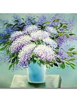 abordables -Pintura al óleo pintada a colgar Pintada a mano - Abstracto / Floral / Botánico Contemporáneo / Modern Lona