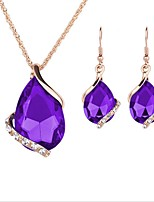 cheap -Women's Jewelry Set - Gold Plated Cute, Fashion Include Pendant Necklace / Bridal Jewelry Sets / Y Necklace Purple For Daily / Evening Party
