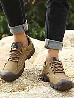 cheap -Men's Shoes Leather Summer Comfort Sneakers Black / Brown / Khaki