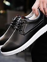 Недорогие -Муж. обувь Полиуретан Весна & осень Удобная обувь Туфли на шнуровке Черный / Желтый / Синий