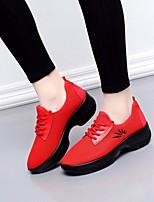 cheap -Women's Dance Sneakers Tulle Sneaker Low Heel Dance Shoes Black / Fuchsia / Red / Performance / Practice