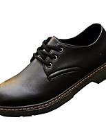 Недорогие -Муж. обувь Кожа Осень Удобная обувь Туфли на шнуровке Черный / Желтый / Красный