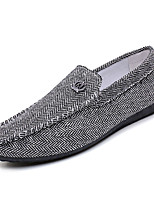 cheap -Men's Shoes PU Fabric Summer Moccasin Comfort Loafers & Slip-Ons Gray Khaki