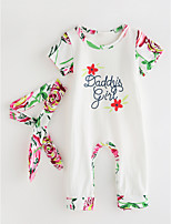 cheap -Toddler Girls' Solid Colored Floral Long Sleeves Clothing Set