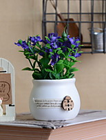 baratos -Flores artificiais 1 Ramo Rústico Campânula Flor de Mesa