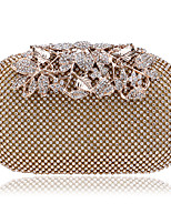 cheap -Women's Bags Rhinestones / Straw Evening Bag Beading / Crystals for Wedding / Event / Party Gold / Black / Silver
