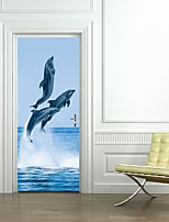 cheap -Decorative Wall Stickers / Door Stickers - Animal Wall Stickers / Holiday Wall Stickers Shapes / 3D Living Room / Bedroom