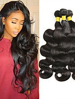 cheap -Peruvian Hair Wavy Unprocessed Human Hair Natural Color Hair Weaves / Human Hair Extensions 4 Bundles Human Hair Weaves Best Quality / New Arrival / For Black Women Natural Black Human Hair Extensions