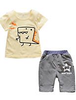 cheap -Toddler Boys' Cat Print Short Sleeve Clothing Set