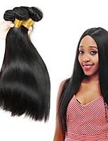 cheap -Indian Hair Straight Natural Color Hair Weaves / Human Hair Extensions Human Hair Weaves Extention / Hot Sale Natural Black All