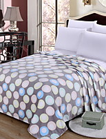 cheap -Coral fleece, Printed Geometric Cotton / Polyester Blankets