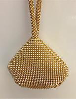 preiswerte -Damen Taschen Satin Abendtasche Perlen Verzierung für Veranstaltung / Fest Gold