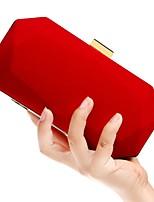 Недорогие -Жен. Мешки Полиэстер / Сплав Вечерняя сумочка Однотонные Черный / Красный / Лиловый