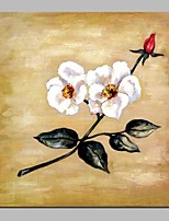 cheap -Oil Painting Hand Painted - Abstract Floral / Botanical Traditional Canvas