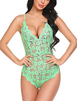 cheap -Women's Matching Bralettes Nightwear - Lace, Solid Colored Floral